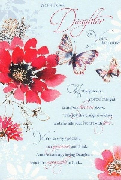 Birthday Greetings For Daughter Happy From Mom 50th Wishes