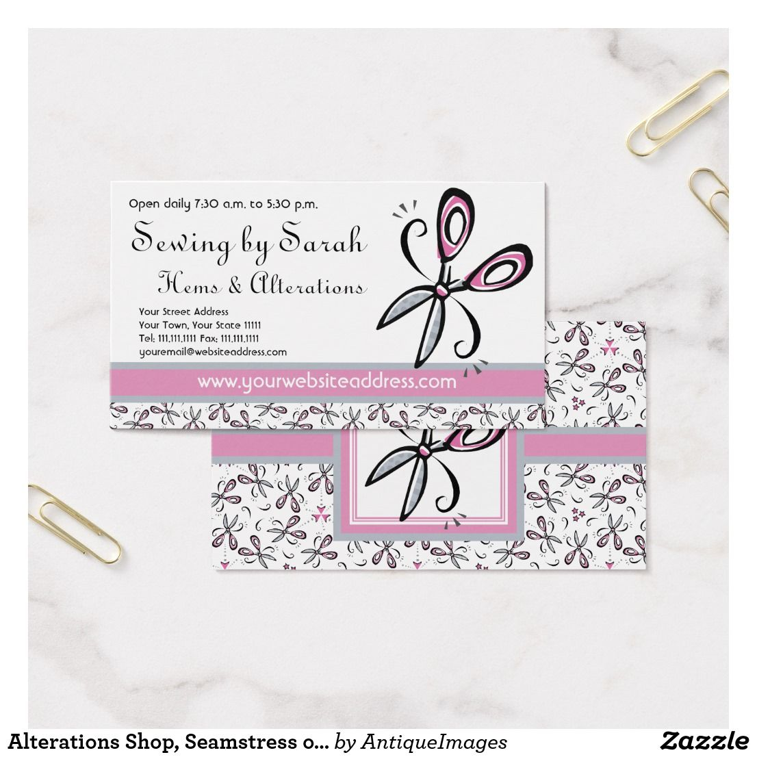Alterations Shop, Seamstress or Tailor\'s Shop Business Card | What I ...