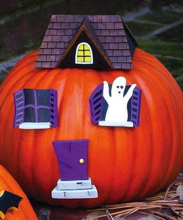 Take a look at this Haunted House Pumpkin Decorating Set by - decorate house for halloween
