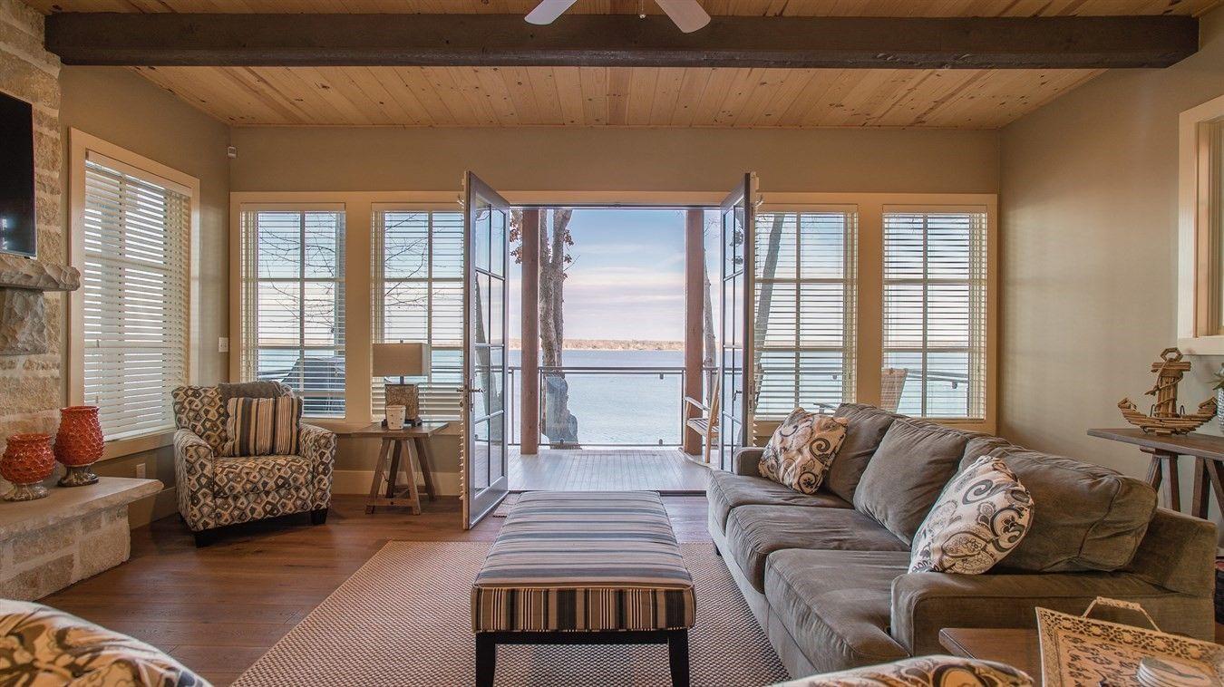 Grand living room on grand lake lakelife oklahoma