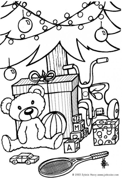 Quatang Gallery- Kleurplaat Cadeautjes Onder De Kerstboom Afb 6433 Coloring Pages Kids Christmas Coloring Pages Christmas Gift Coloring Pages