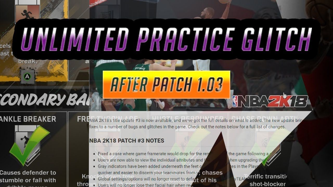 Nba 2k18 How To Unlock All Badges Fast Unlimited Practice Drills Glitch