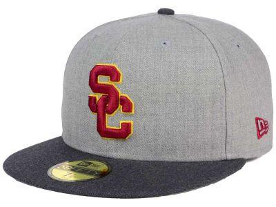 4ed2df357ca90 USC Trojans New Era NCAA Heather Action 59FIFTY Cap