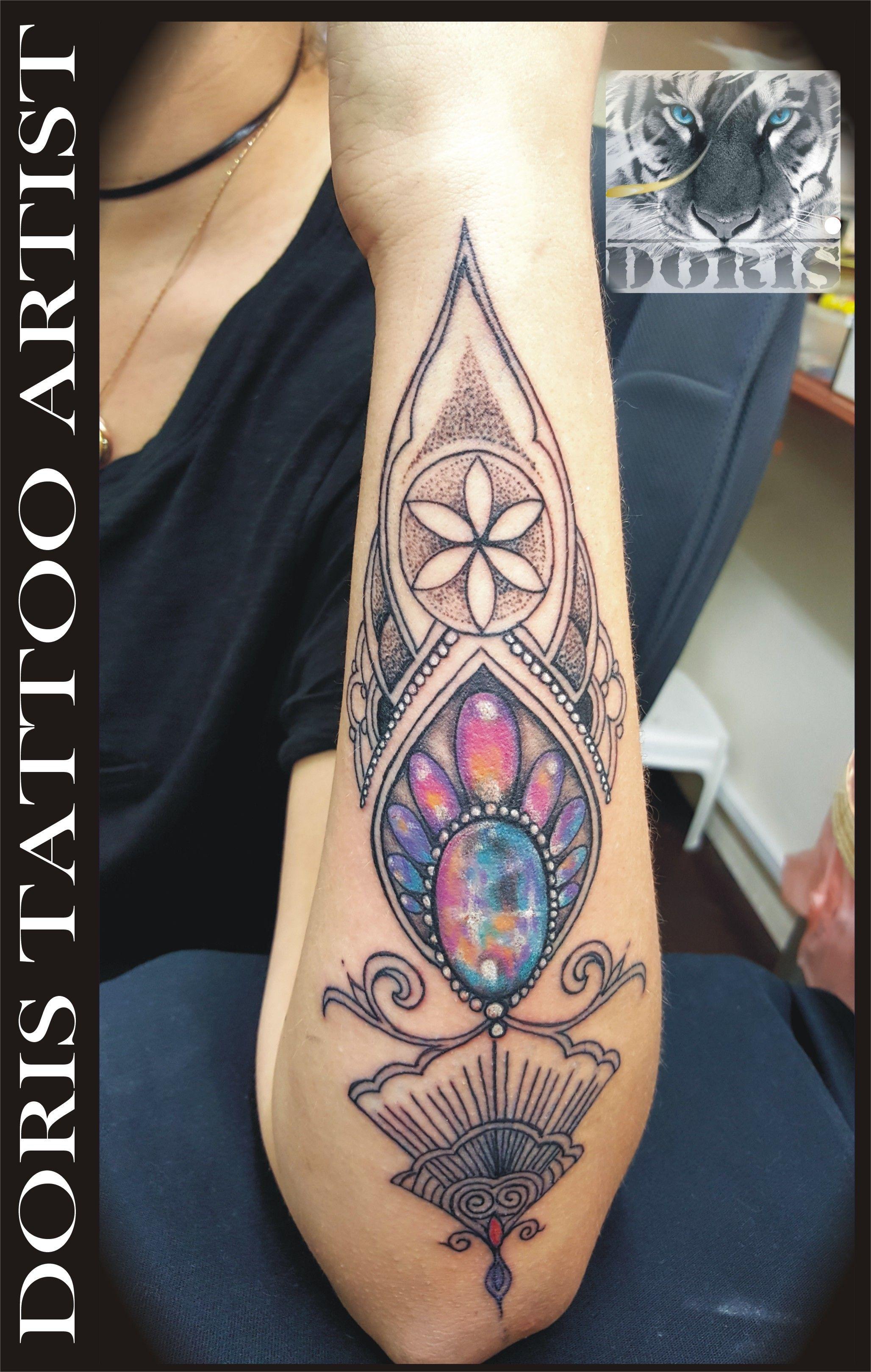 397112d6f mandala 3d jewel arm tattoo   Doris aluf - tattoo Israel / קעקועים ...