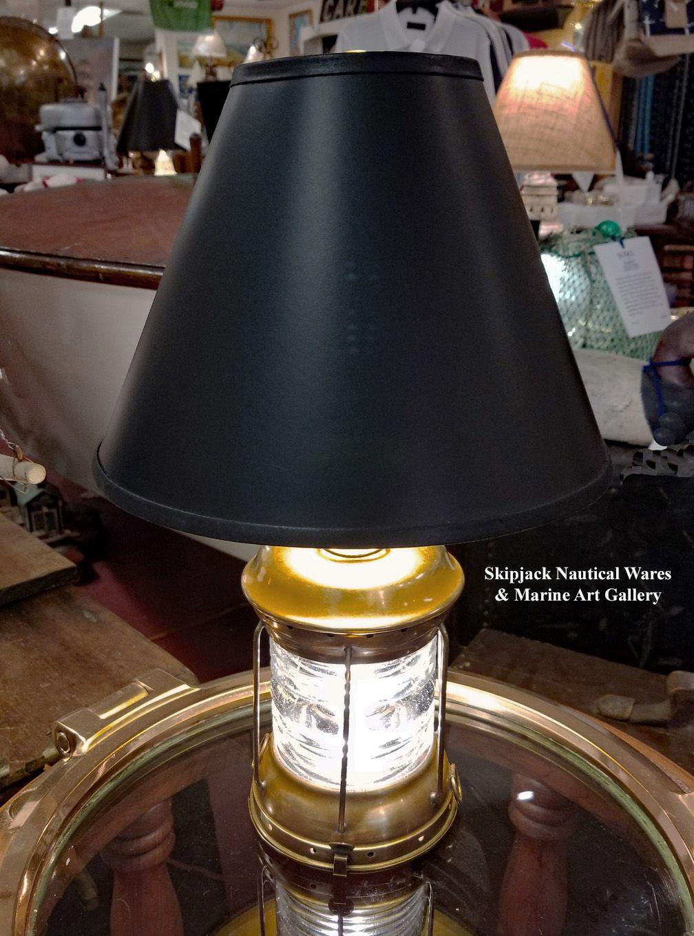 Vintage Brass Perko All Round Navigational Light Nautical Table Lamp Skipjack Nautical Wares Nautical Lamp Vintage Light Lamp Table Lamp Nautical Lamps
