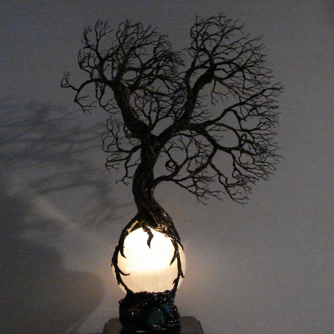 Full moon rising wire tree of life wind spirits sculpture for How to make a wire tree of life sculpture