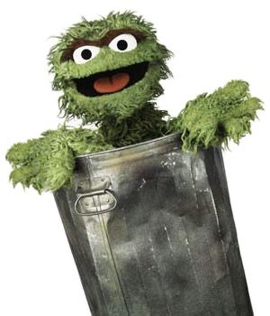 Trashing Cliches Oscar The Grouch The Muppet Show Sesame