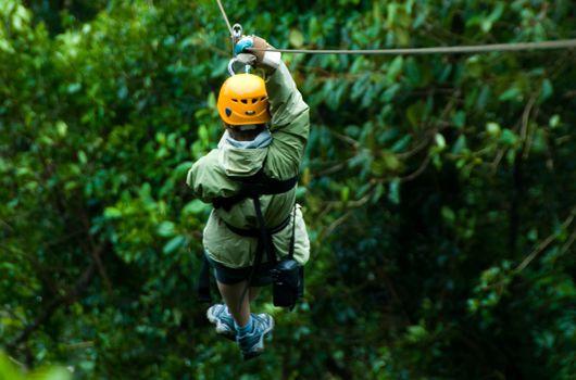 Zipline in Monteverde's cloud forest, Costa Rica