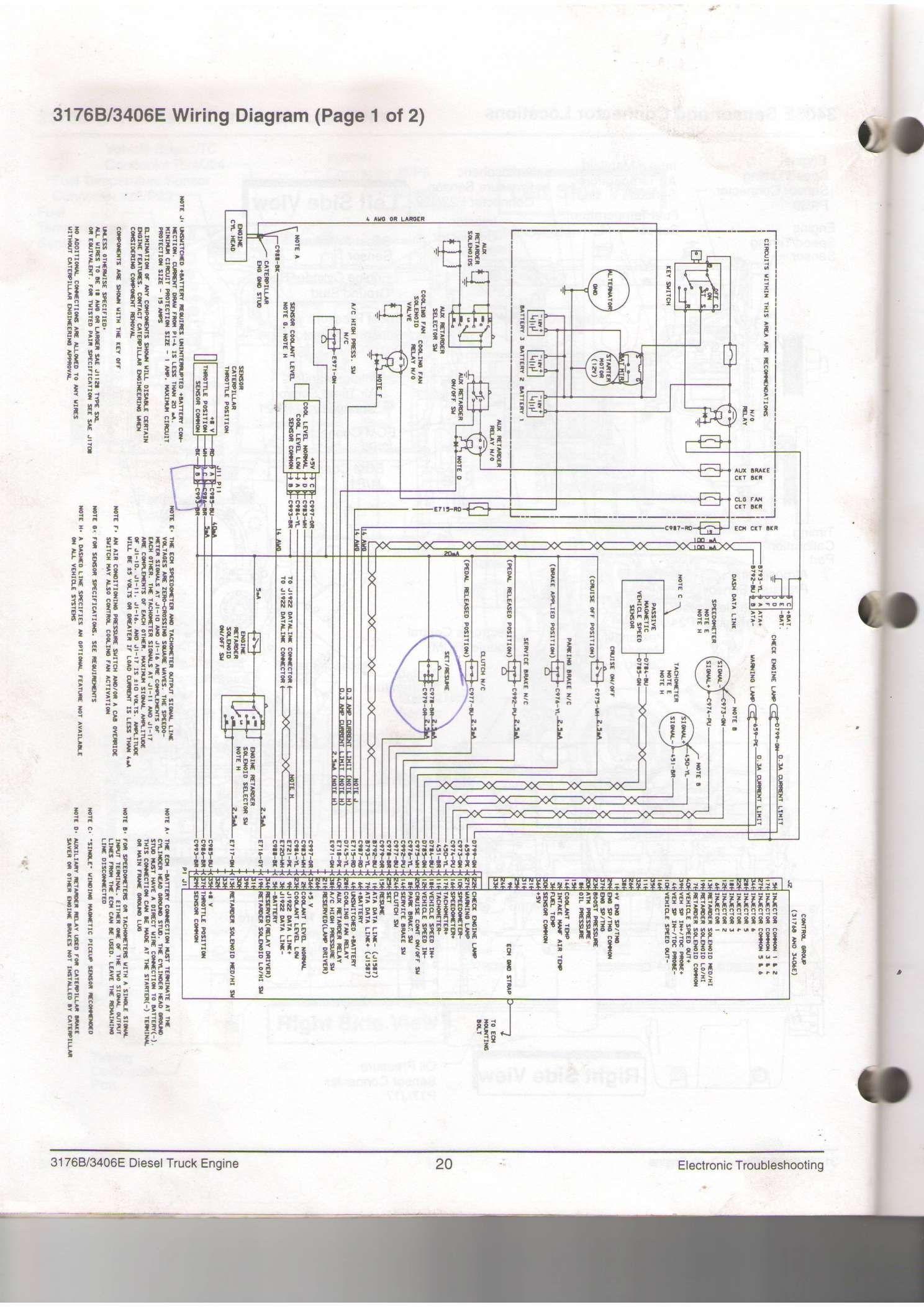 10 Engine Wiring Diagram Caterpillar Late Model 3406e Engine Diagram Wiringg Net Diagram Wire Cats