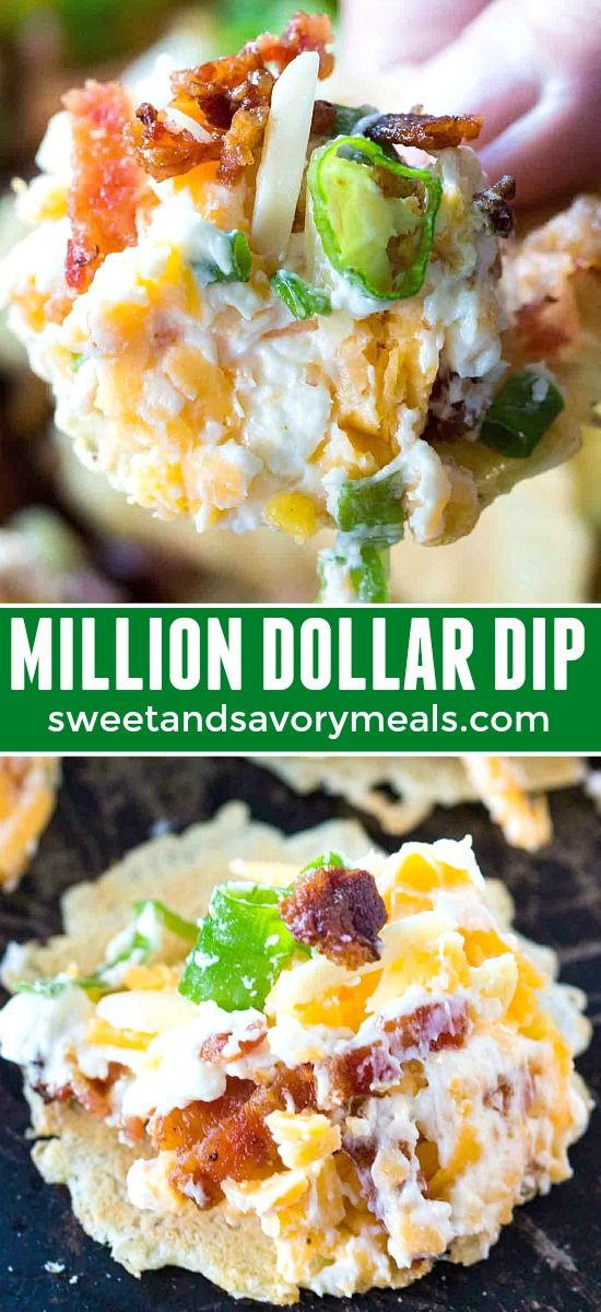 Best Million Dollar Dip Recipe Video Sweet And Savory Meals Recipe Recipes Bacon Appetizers Appetizers Easy