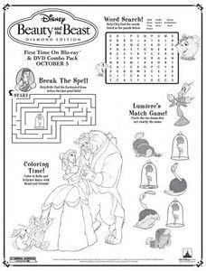 image result for disney activity book pages