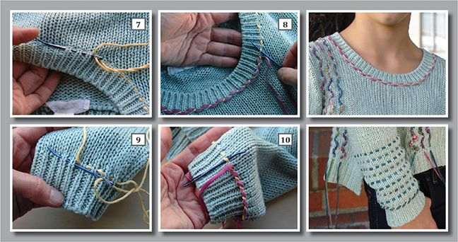 Knitting Tutorial: More Ways to Embellish & Upcycle / Annie's / Creative Knitting