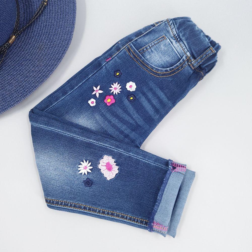72eebae62 Cheap Niñas Vaqueros algodón Pantalones primavera otoño niños Pantalones  dril Bordado flores cómodo ropa niños ropa