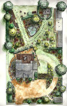 Beautiful Landscape Architecture Plan architecture/plan/jardin   garden   pinterest   architecture plan