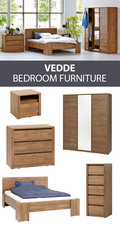 Dark Oak Matching Bedroom Furniture With The Vedde Range From Wardrobes To Drawers To B Bedroom Furniture Oak Bedroom Furniture Sets Modern Bedroom Furniture