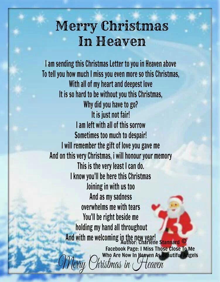 Merry Christmas in Heaven Christmas in heaven, Merry