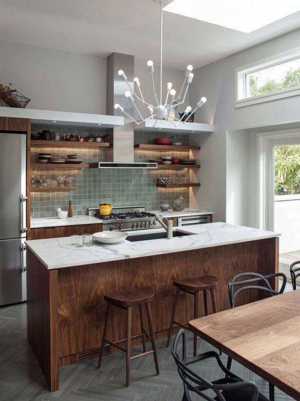 Kitchen Gorgeous Chandelier Unique Kitchen Island White Marble Countertop Gray Floor Glass Til Contemporary Kitchen Walnut Kitchen Outdoor Kitchen Countertops