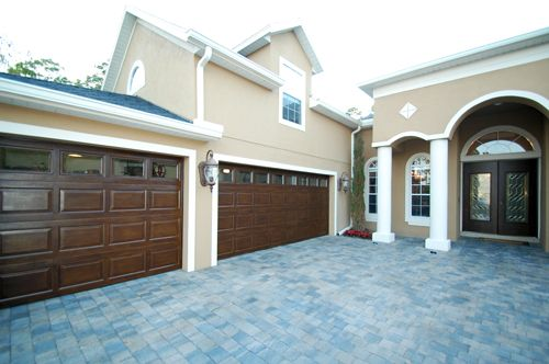 Good Faux Woodgrain On Garage Doors And Front Door To Match By Garay Artisans.  Originally Just