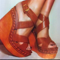 Brown leather wedges #shoes #brown #leather #wedges #summer #summershoes www.spice4life.co.za