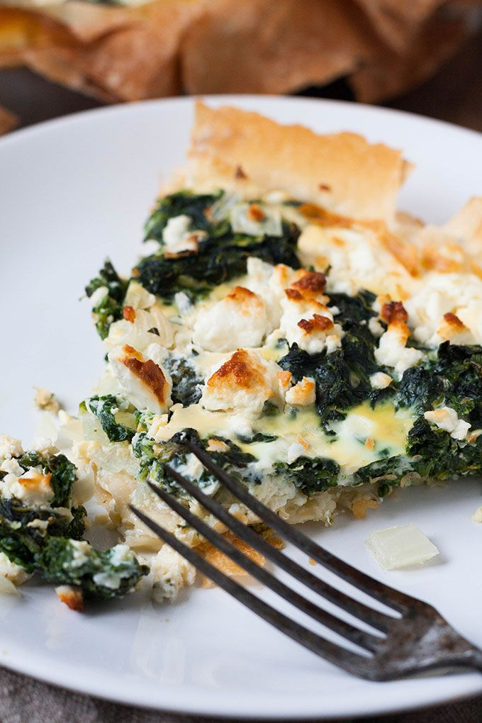 Spinat-Feta-Quiche ohne Boden - kochkarussell.com #lowcarbveggies