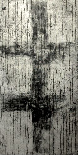 Mark Graver, Eternal, Metal Salt Etching, Chine Colle, Drypoint on 1385 x 760 mm paper, ed 5, 2008