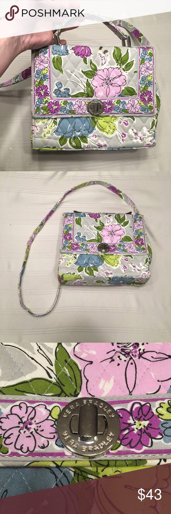 Very Bradley Purse Like new condition Vera Bradley purse. Bright, colorful pattern for spring/summer. Vera Bradley Bags Crossbody Bags