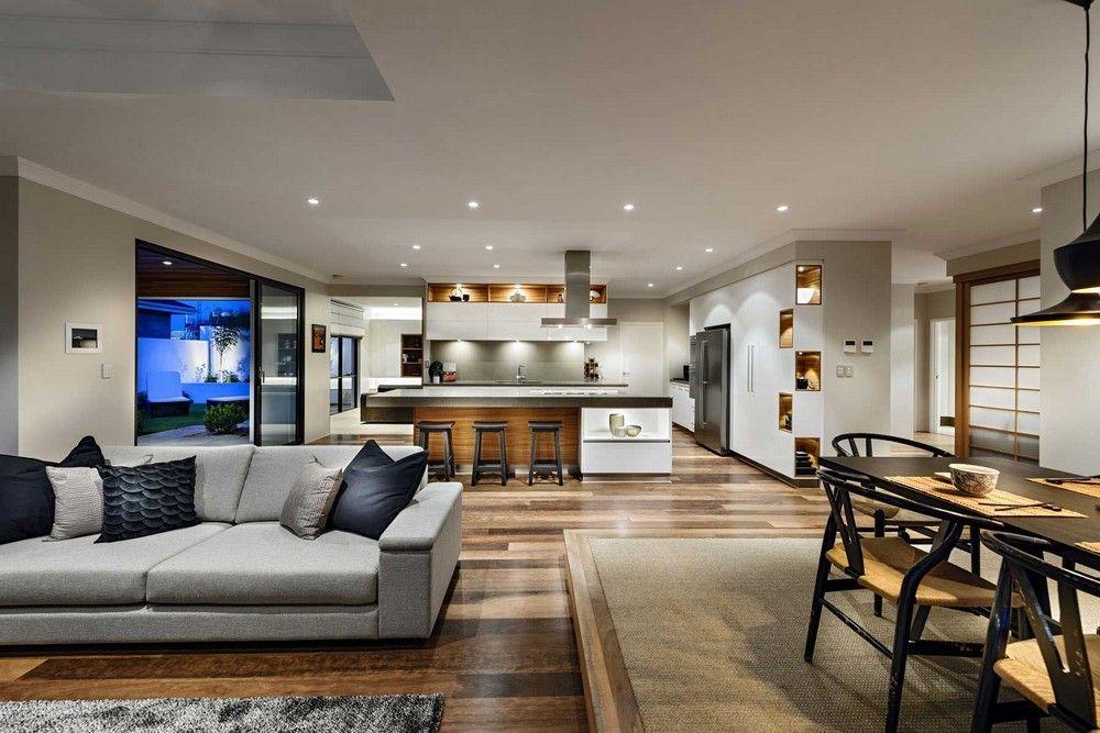 diseño de casa de un piso estilo oriental con planos y decoración