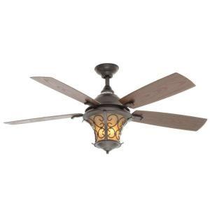 hampton bay veranda ii 52 in indoor outdoor natural iron ceiling rh pinterest com