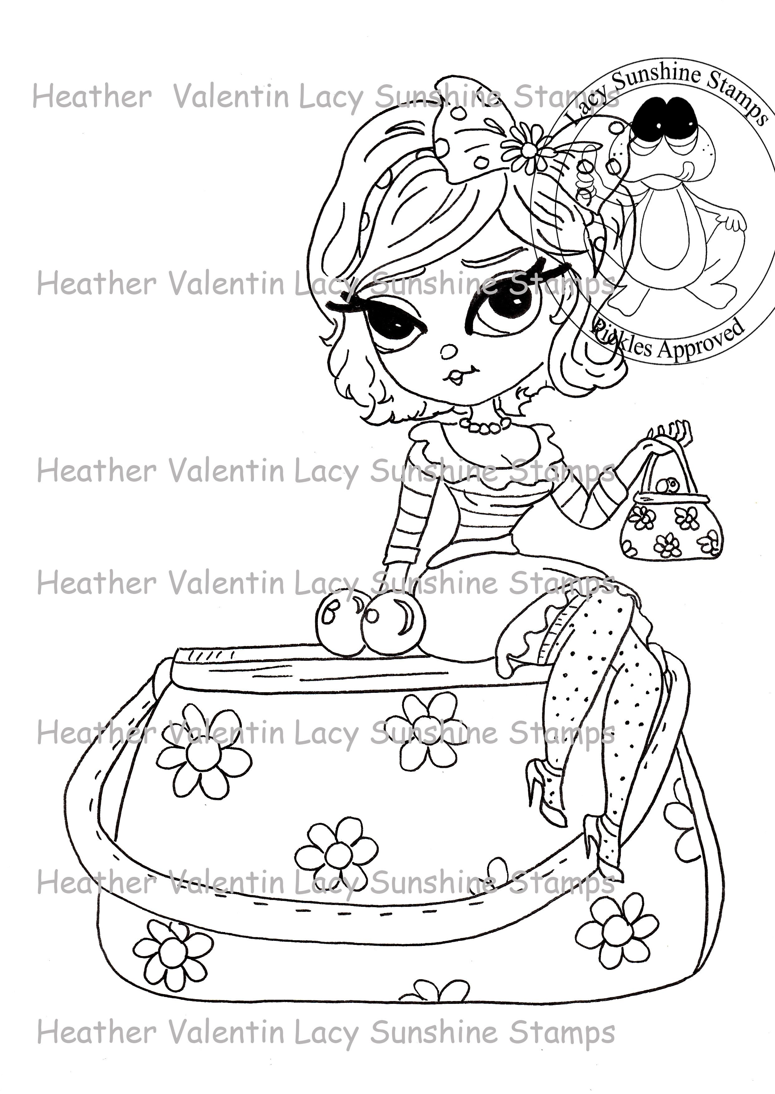Lacy Sunshine Coloring Pages