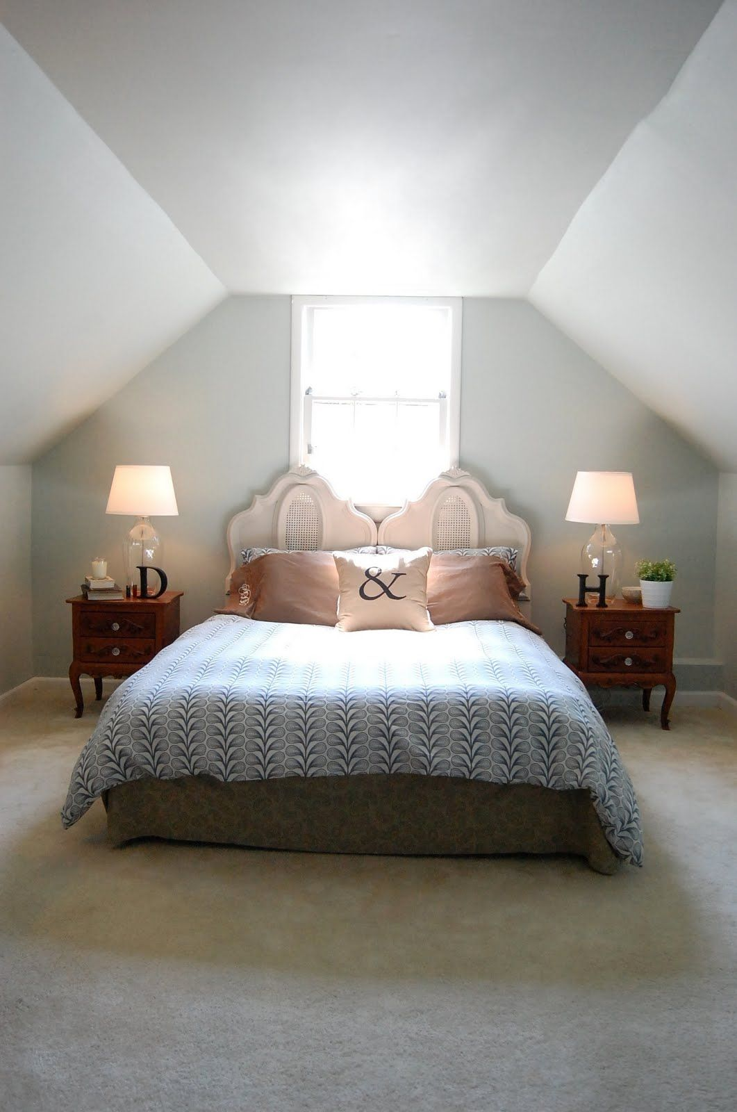 Rearrange Our Master Bedroom Wall Color Benjamin Moore Quiet Moments Duvet Ikea Ampersand Pillow Cover From Homegoods Home Decor Bedroom Wall Colors Home