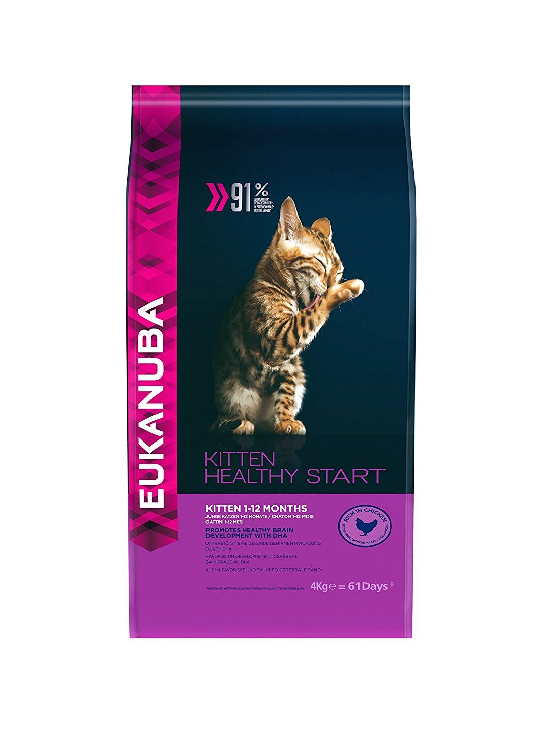 Eukanuba Dry Kitten Food Chicken Liver 4 Kg See This Great Product This Is An Affiliate Link Catfood Chicken Livers Kitten Food Food Animals