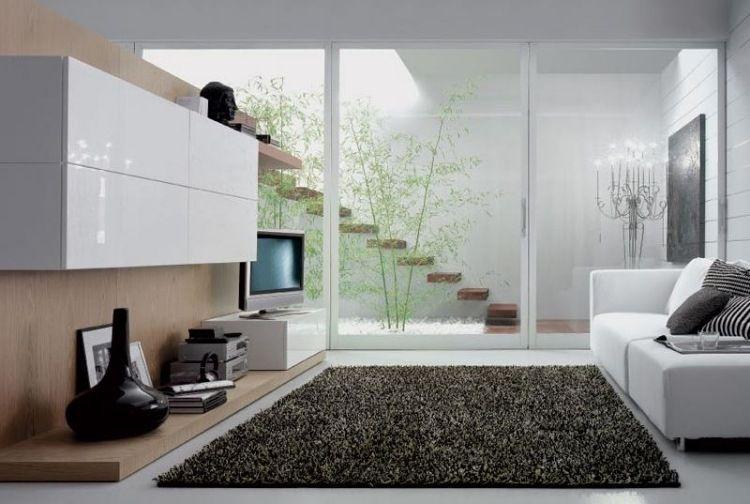 dcoration salon super moderne avec baie coulissante - Comment Decorer Un Petit Salon