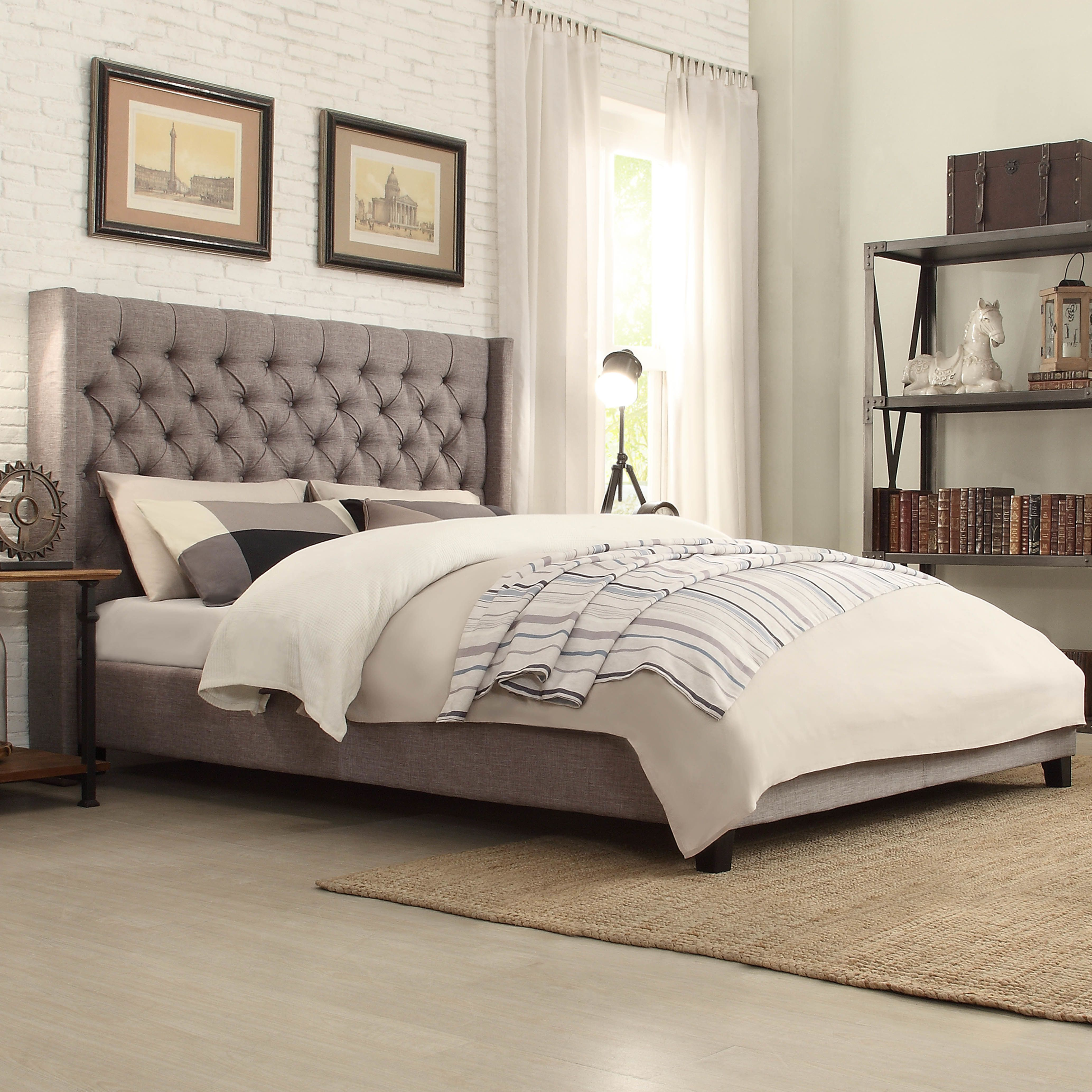 Customer Image Zoomed Upholstered platform bed