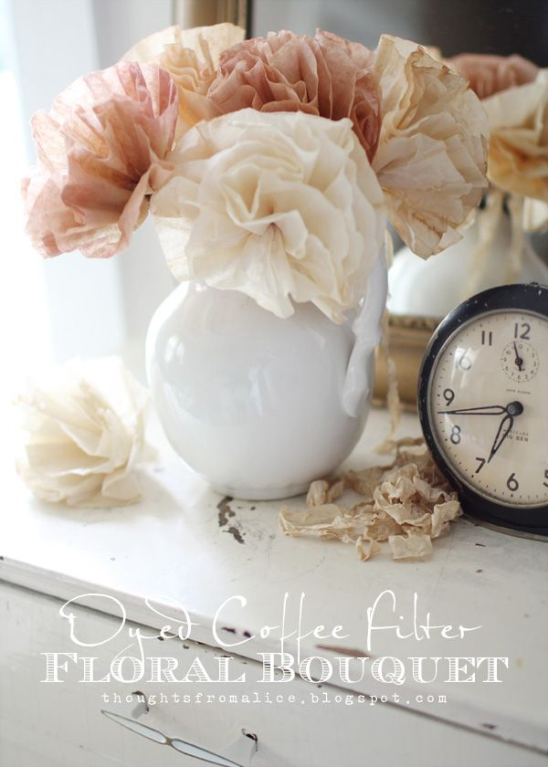 Dyed Coffee Filter Floral Bouquet | Coffee filters, Craft and Paper ...