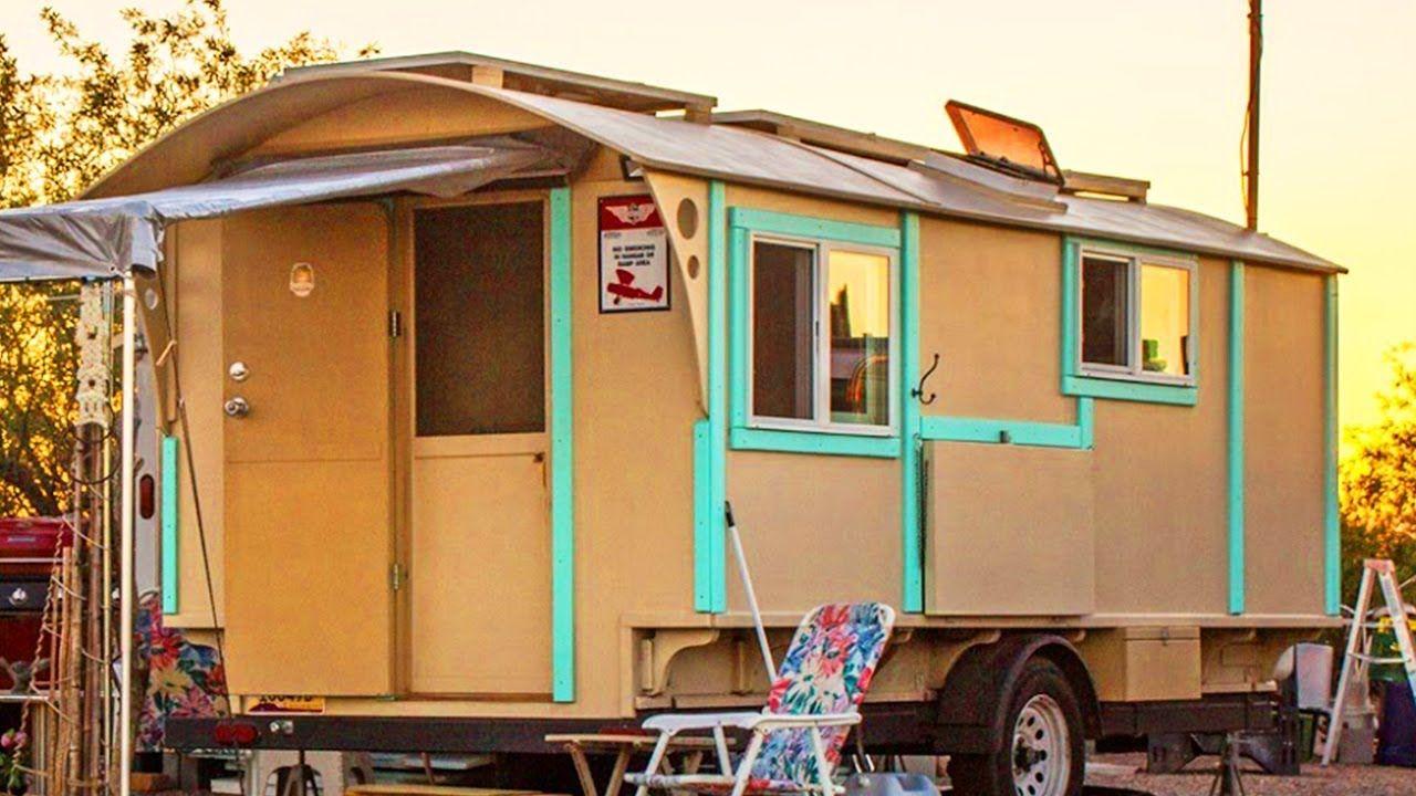 Fabulous Handcrafted Vardo Tiny House Travel Trailer For Sale