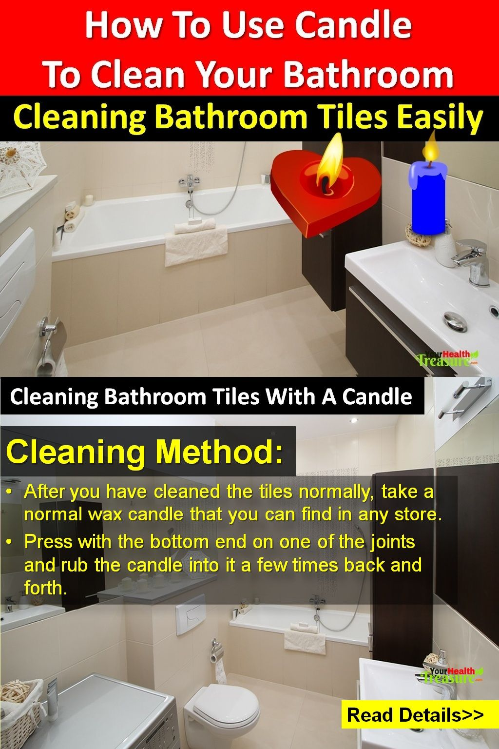 How To Clean Bathroom Tiles How to Use Candle to Clean Your
