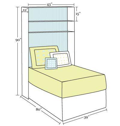 Elegant How To Build An Over The Bed Bookcase. Dorm ShelvesDorm ... Awesome Ideas