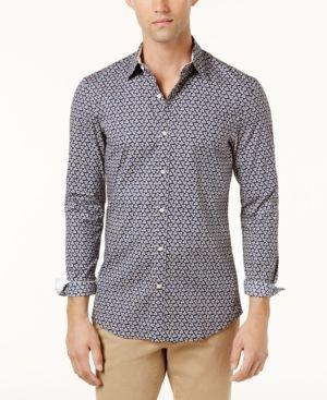 Michael Kors Men s Printed Shirt - Blue S   Pinterest   Products 7a632f492baa