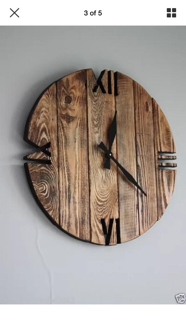 DIY Wood Pallet Clock with cut out numerals