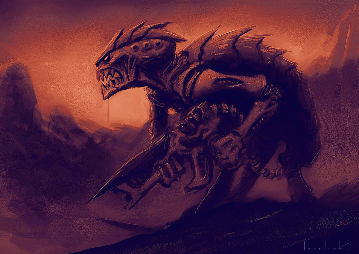 Tyranid Sketch By Ryanlovelock On Deviantart Tyranids Warhammer 40k Tyranids Warhammer 40k Art