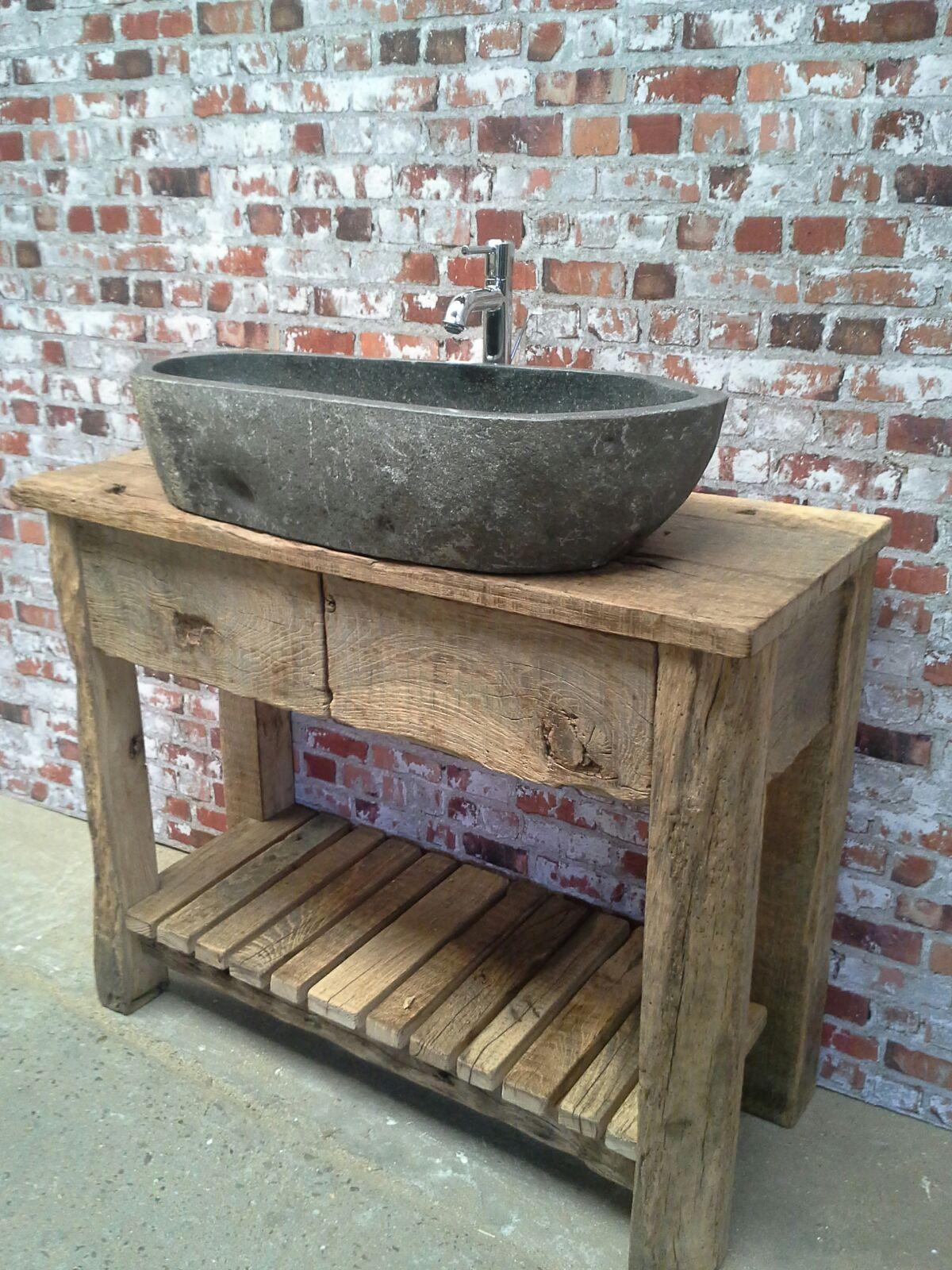 frans eiken wasbak nostalgisch oud hout eikentuinhuis