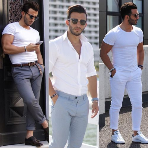 Be cool in White. Men Outfit