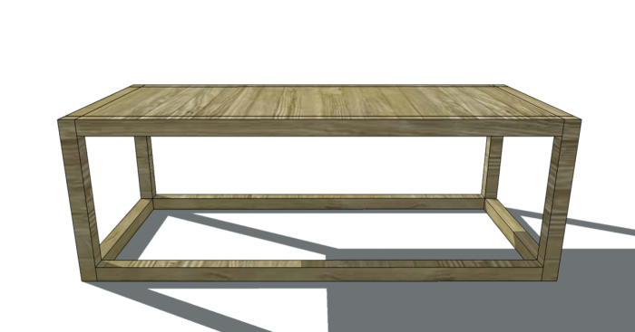 Free Woodworking Plans To Build A 2x2 Collection Coffee Table