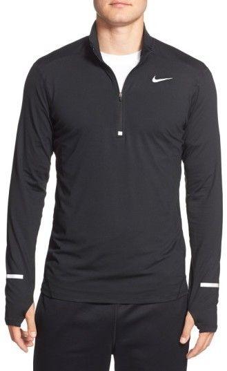890c70556bfc8 Nike Men's 'Element' Dri-Fit Quarter Zip Running Top   Clothes I ...