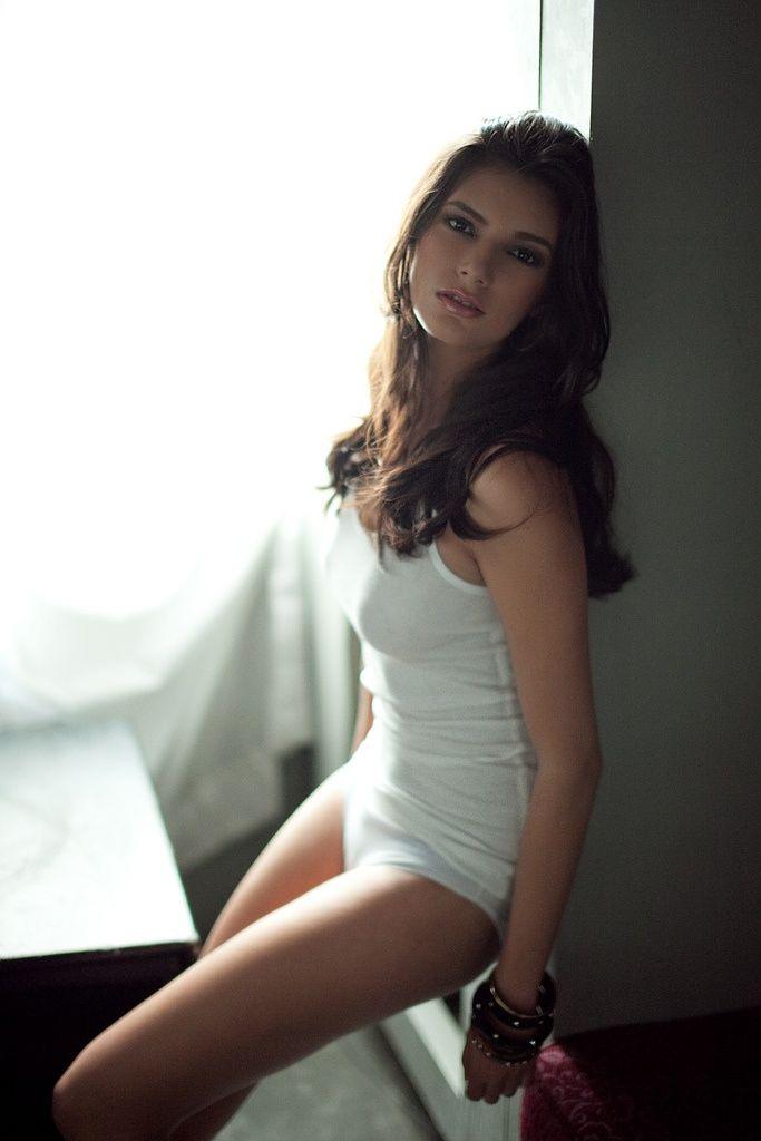 Sexy Girl Next Door In Repose Brunette Hot Sexy