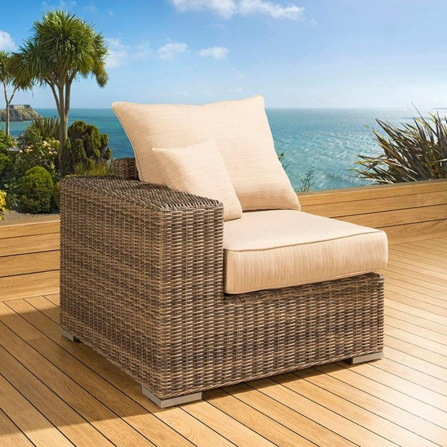 Luxury Outdoor Garden Single Sofa Piece Rattan Mocha Beige Left End Truly Stunning In Design This Left Hand En Single Sofa Outdoor Sofa Garden Furniture Sets