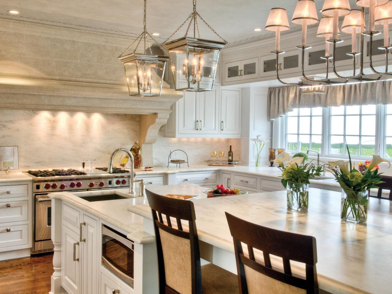 A Kitchen Featuring Contemporized Colonial Grandeur | Kitchen Designs - Choose Kitchen Layouts & Remodeling Materials | HGTV