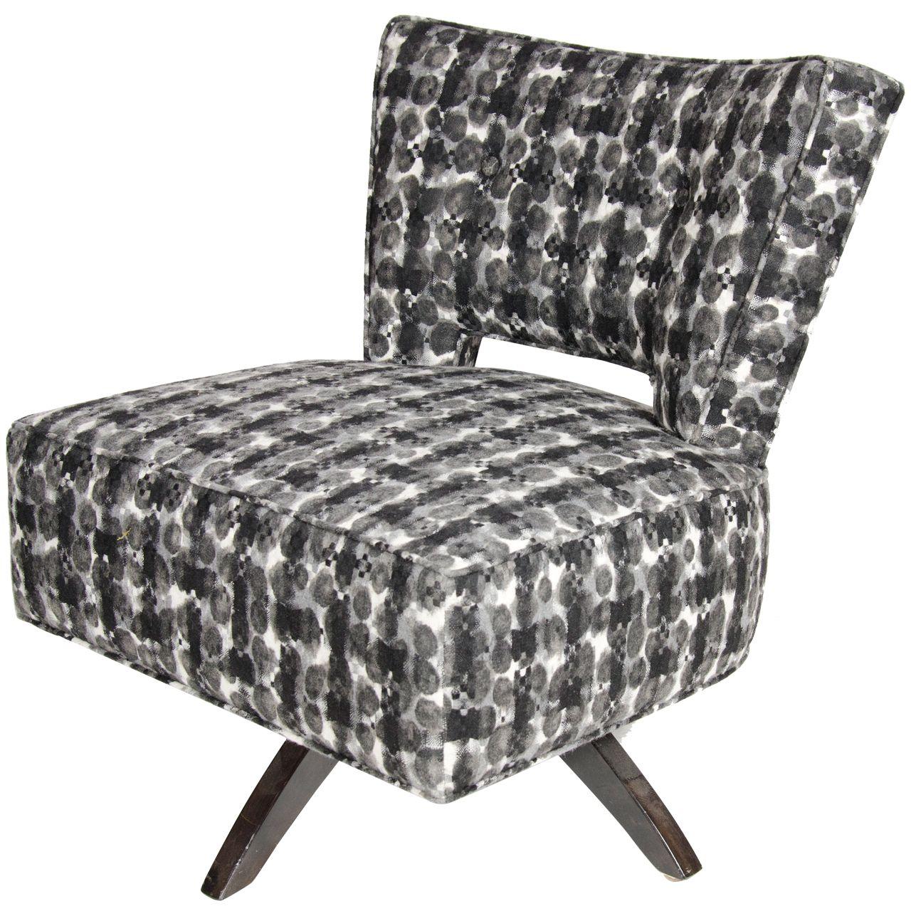 Mid Century Modernist Swivel Slipper Chair By Koehler