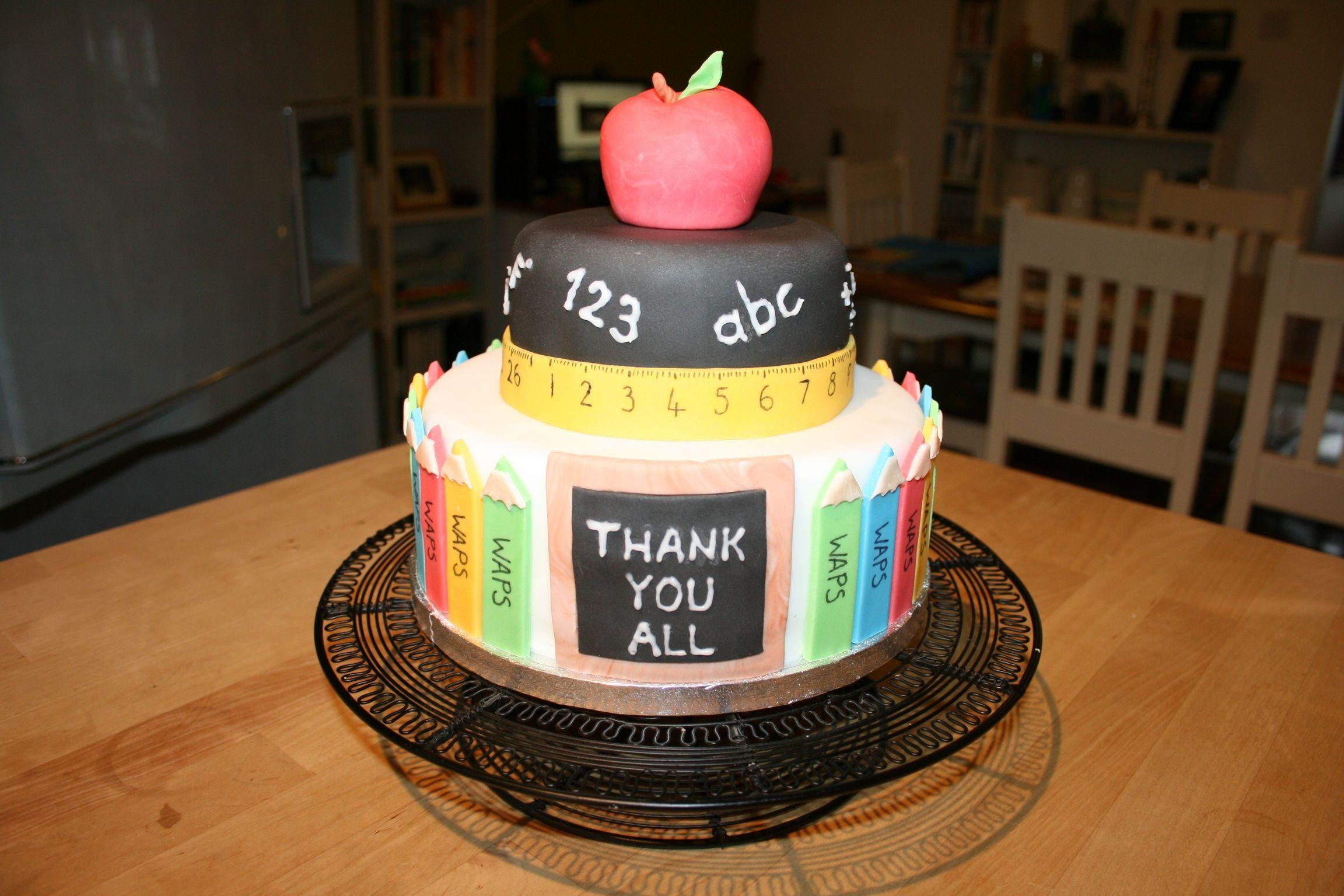 Teachers Thank You Cake Blackcatbakery