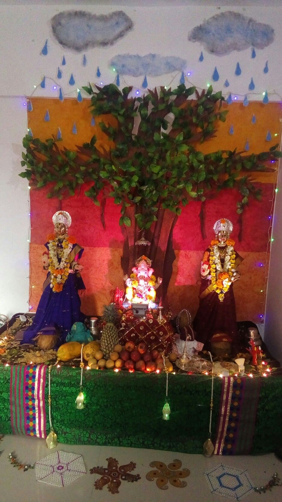 Ganpati Decoration Tree Ganpati Decoration At Home Decoration For Ganpati Eco Friendly Ganpati Decoration,Simple 3 Bedroom House Plans With Photos